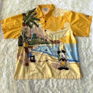 Disney World Button Up Mickey Hang Loose Tee Sz 2x